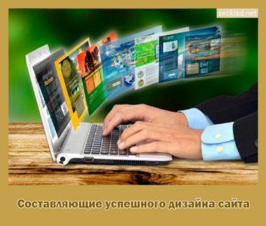 Составляющие успешного дизайна сайта